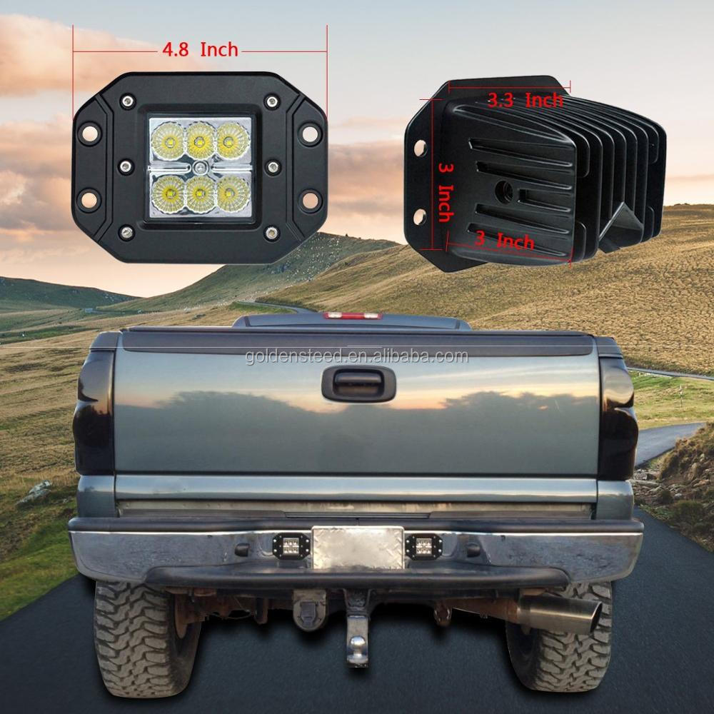 Spot Work Light Bar 18w Driving Fog Light Flush Mount Led Lights For