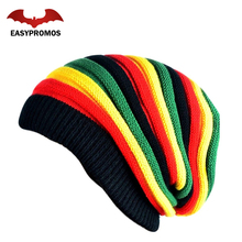 Design Your Own Colorful Slouchy Beanie Knit Winter Hat