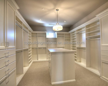 Fancy wooden walk in closet customized bedroom closet with island