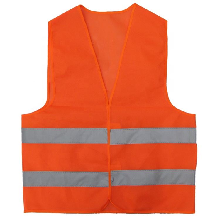 <strong>Orange</strong> Custom Print logo Safety <strong>Vest</strong>