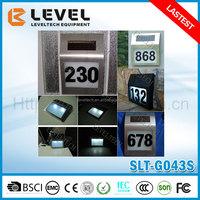 Hotsale Eco-Friendly Outdoor Solar Powered Led Pathway Lamp Doorplate Address Light Doorplate Solar Lighting