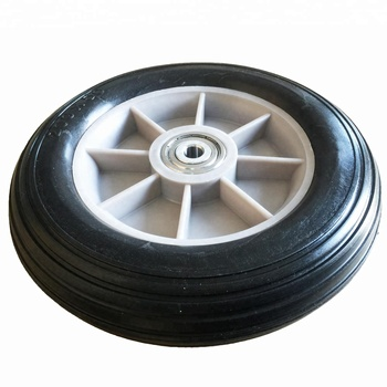 Polyurethane Solid Tire 200mm Dia 45mm Wide With Plastic Insert 10mm Core