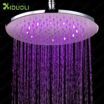 Shower Head Led 3 Color Square Temperature Control Three Color Led