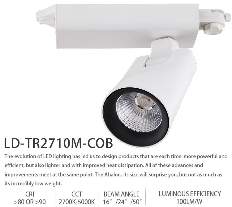 China Factory wholesale TRAIC dimmable LED track spotlight