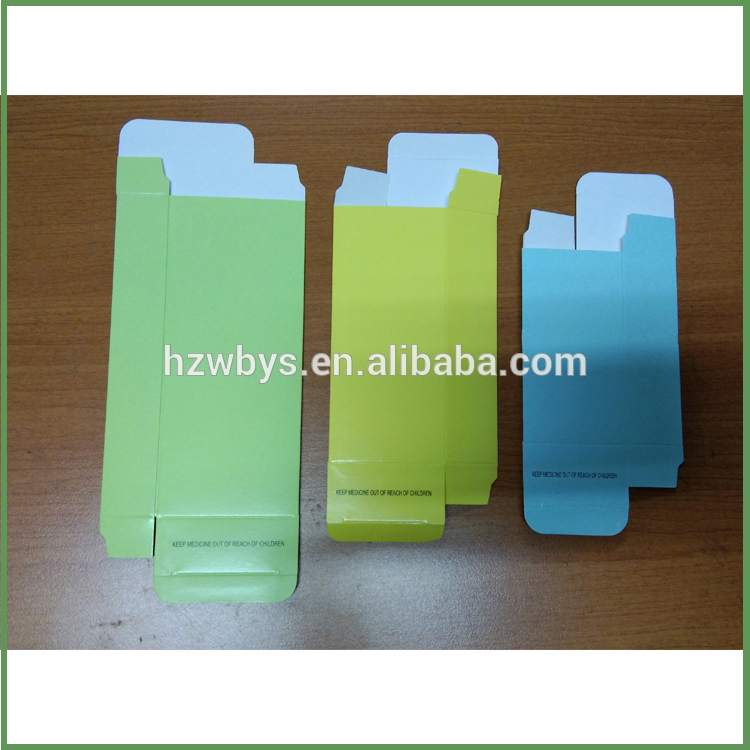 Foldable coated paper box for medicine