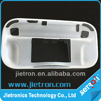 Clear White Silicone Skin Protective Cover for Wii U Controller Rubber Case