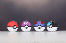 Promotional hot selling wholesale various colorful soft stuffed plush poke Ball toys
