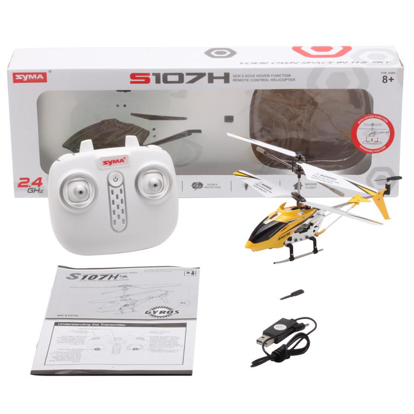 Upgraded Rc Helicopter Syma S107H 2.4G 3.5CH Hover Hoogte Hold Rc Mini Drone W/Gyro Rtf Rc Quadcopter speelgoed Voor Jongen Kid Gift