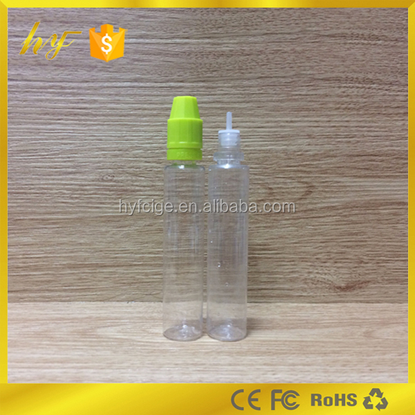 tall and thin style PET plastic e liquid bottle 30ml with child proof and tamper resistant lid from bottle manufacturer
