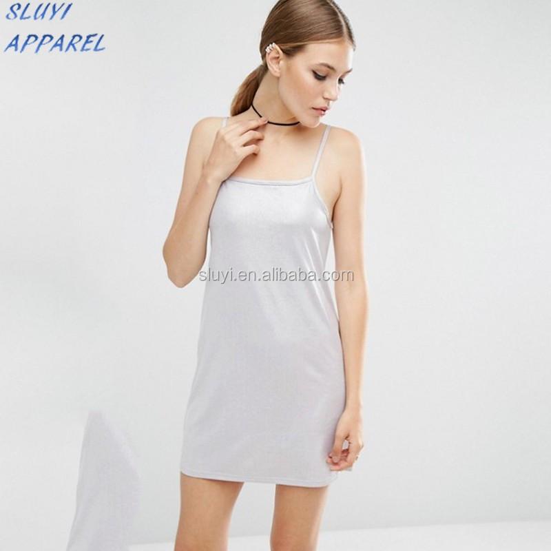 metallic slinky white slip mini dress sexy mature elegant mini