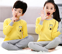 Wholesale cartoon kids clothes set printed pattern pajamas for children
