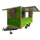 Commercial Multi-functional Fryer Ice Cream Food Cart For Slush Machine