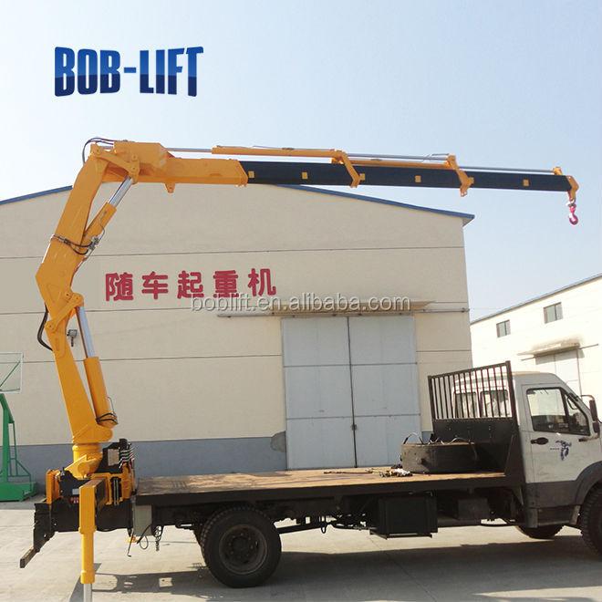 Small Knuckle Boom Crane : Sq za ton mobile knuckle boom small portable crane