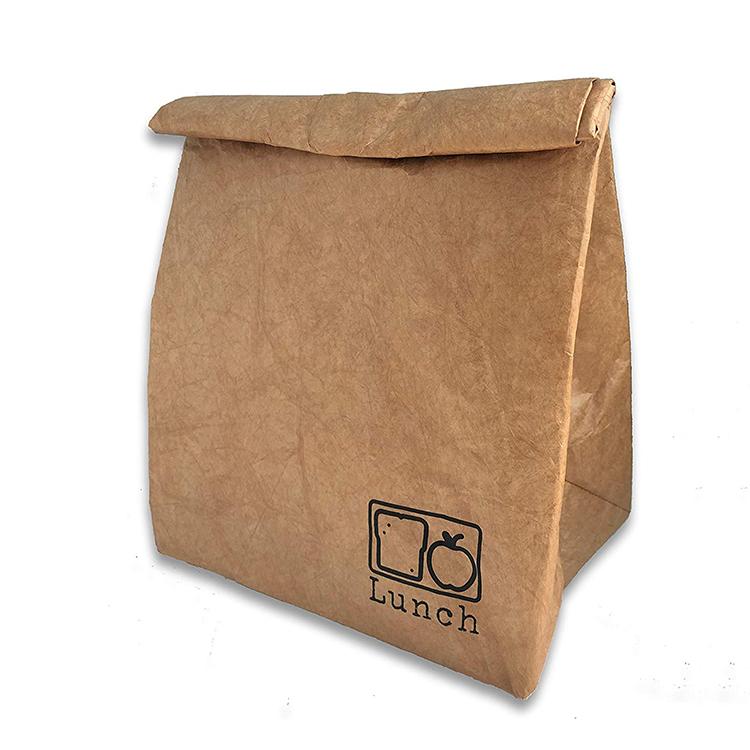 Многоразовый коричневый бумажный обед мешок экологичный прочный изолированный бумажный мешок охладитель