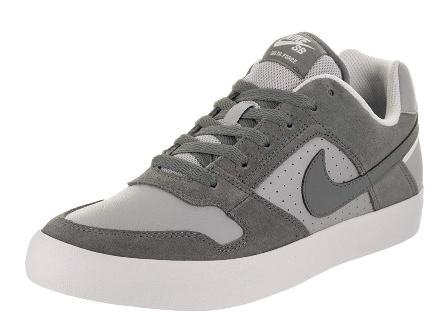 9eb7ab2c3f78 Get Quotations · NIKE Men s SB Delta Force Vulc Cool Grey Cool Grey Wolf  Grey Skate Shoe 10