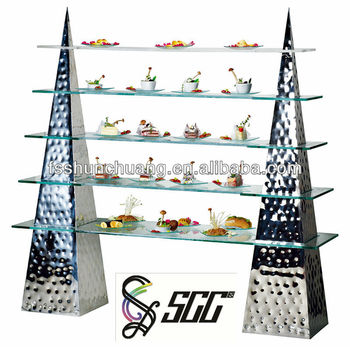 Buffet Display Stands 41tier stainless steel buffet display wedding cake stand with 16