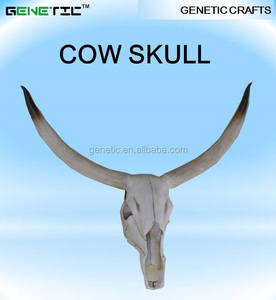 BIG SIZE WHITE COLOR CUSTOMIZED REALISTIC WALL MOUNTED COW SKULL ANIMAL FIGURINES