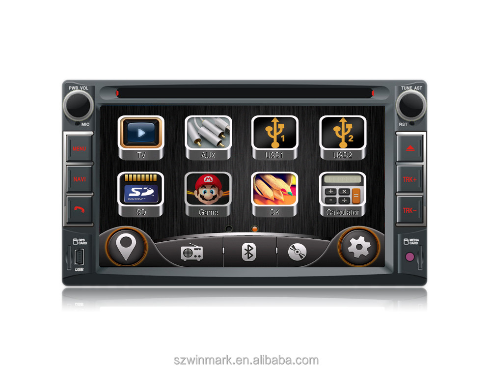 "DK6536 6.2"" two din HD digital monitor universal car dvd player car radio with GPS external <strong>TV</strong> etc.features"