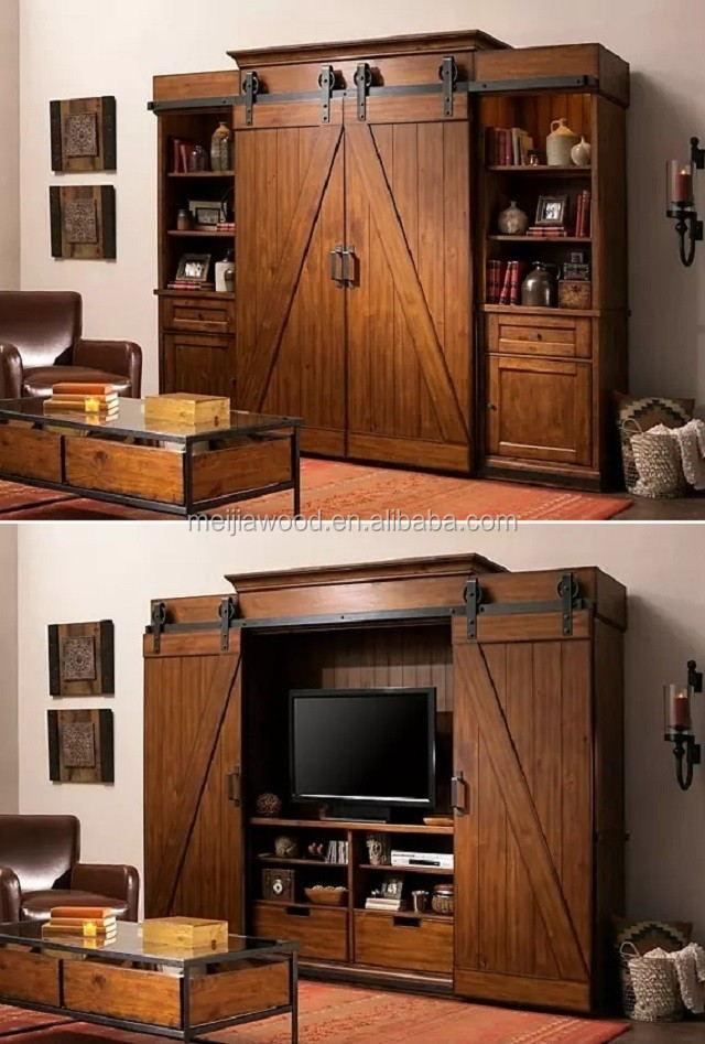 American Rustic Styles Z Brace Double Sliding Barn Door