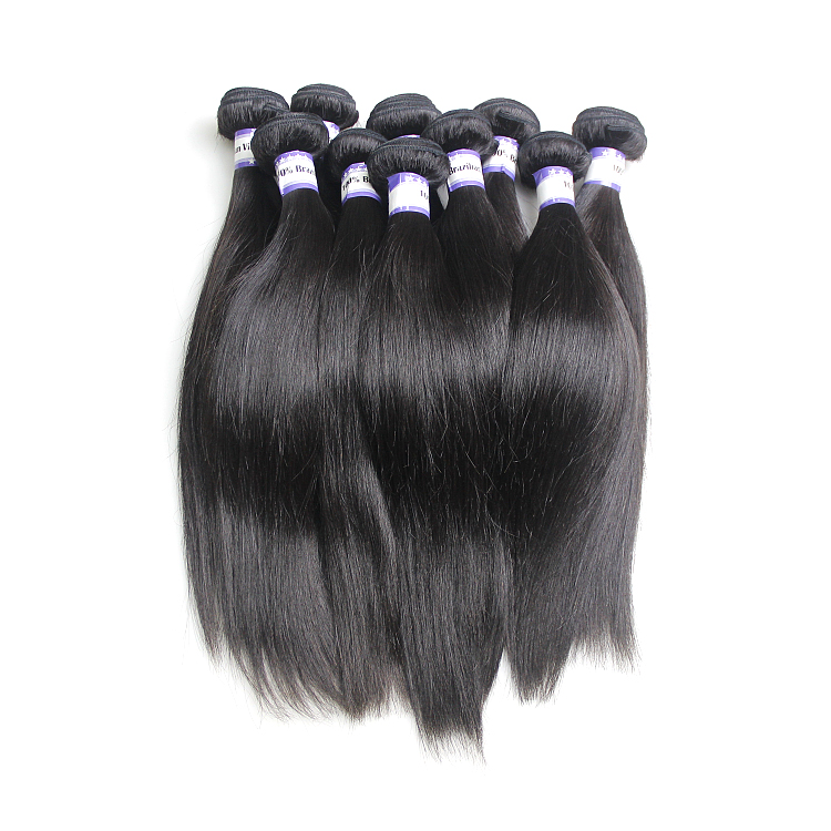 2019 Wholesale real virgin 16 18 20 inch 100% virgin brazilian grade 11a straight human weave raw cuticle aligned hair
