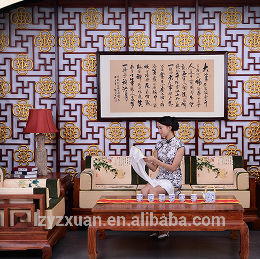 Chinese ancient hand carving living room furniture wood sofa set online