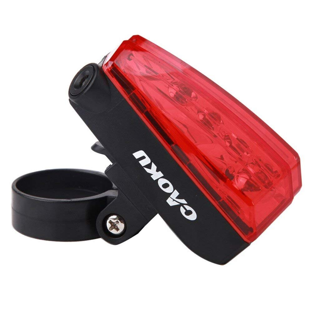 Mercery Super Bright Waterproof Bike Tail Light USB Rechargeable LED Bicycle Rear Light Easily Clips on Red Taillight Powerful Optimum Cycling Safety Mountain Bike/Road Bike/Racing Bike/BMX Riding Eq
