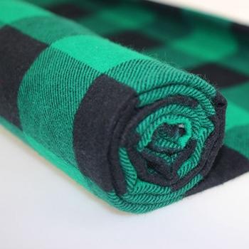 Ready Stock Green Check Stripe Shirting Woven Flannel Fabric - Buy Green  Check Fabric,Stripe Shirting Fabric,Check Shirting Fabric Product on