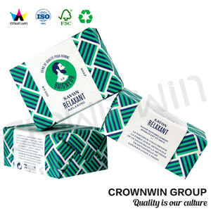 Luxury 300gsm Pulp Paper Box For Soap CrownWin Packaging