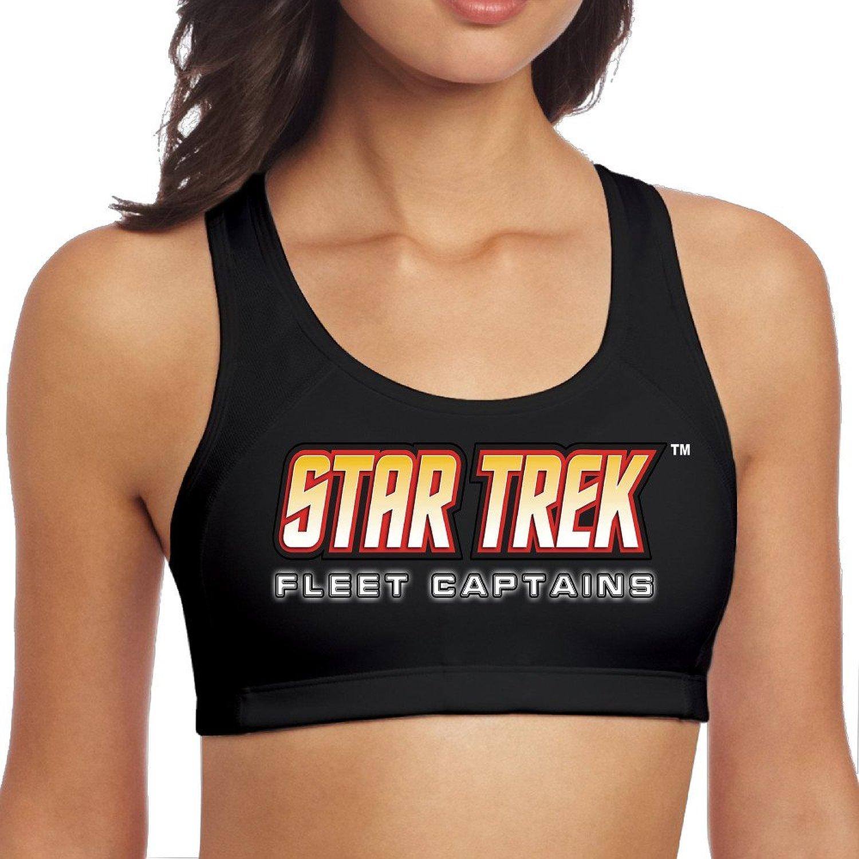 Women's Star Trek Fleet Captains Logo Racerback Yoga Sports Bra