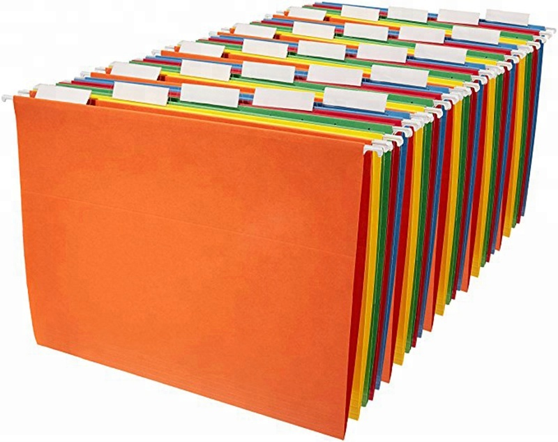 Amazon hot selling 100/Pack Office Hanging Folder Tabs dividers Inserts