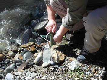 Ceramic Water Filter for Hiker, Fisherman, Camper