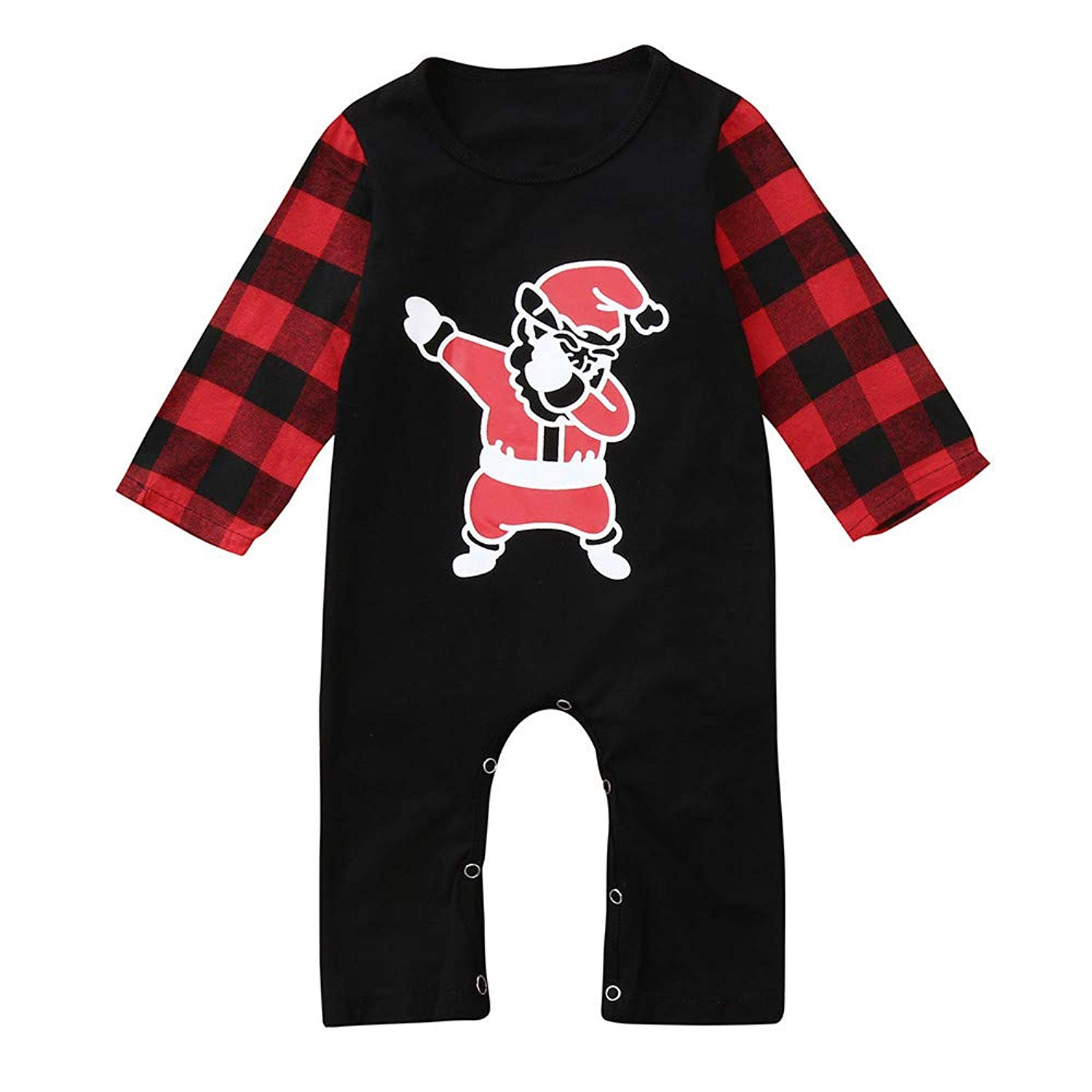 8d72024dc1 Get Quotations · Tronet Christmas Baby Boys Girls Winter Santa Print Romper  Jumpsuit Infant Casual Warm Outfits