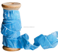 Wholesale distributors blue stretch velvet ribbon merchandise for celebration