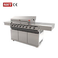 Factory Direct Wholesale Full Stainless Italian Bbq Gas Grill Oven