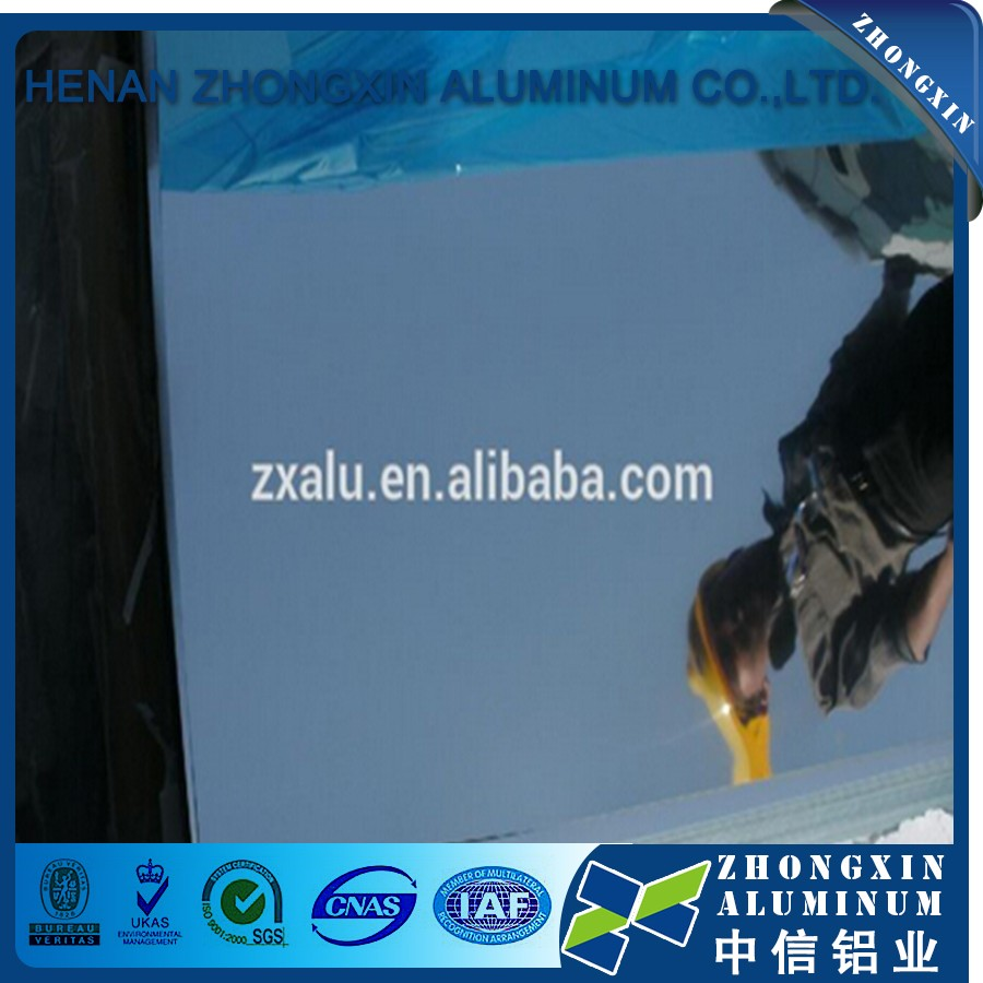 China 3xxx 1xxx blue film mirror aluminum