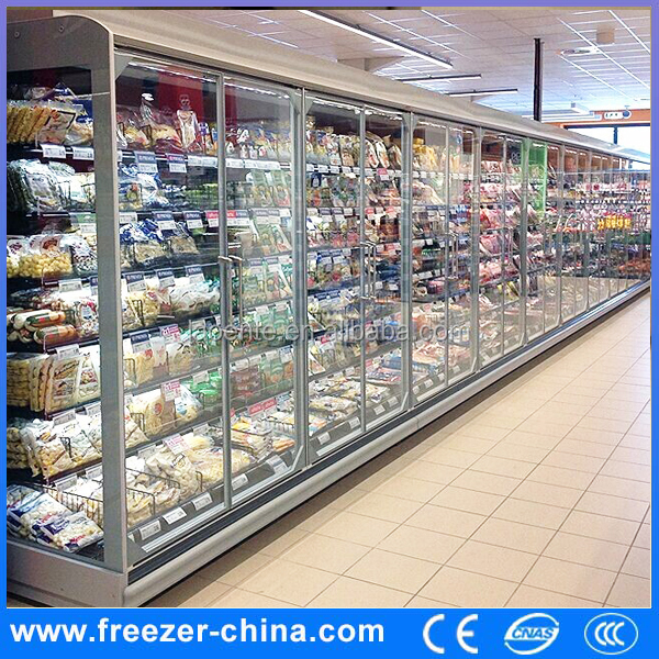 R404a industrial refrigerator and freezer with Self-evaporation system
