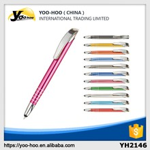 Hot sale promotional multicolor metal ball pen touch screen ball pen with high quality