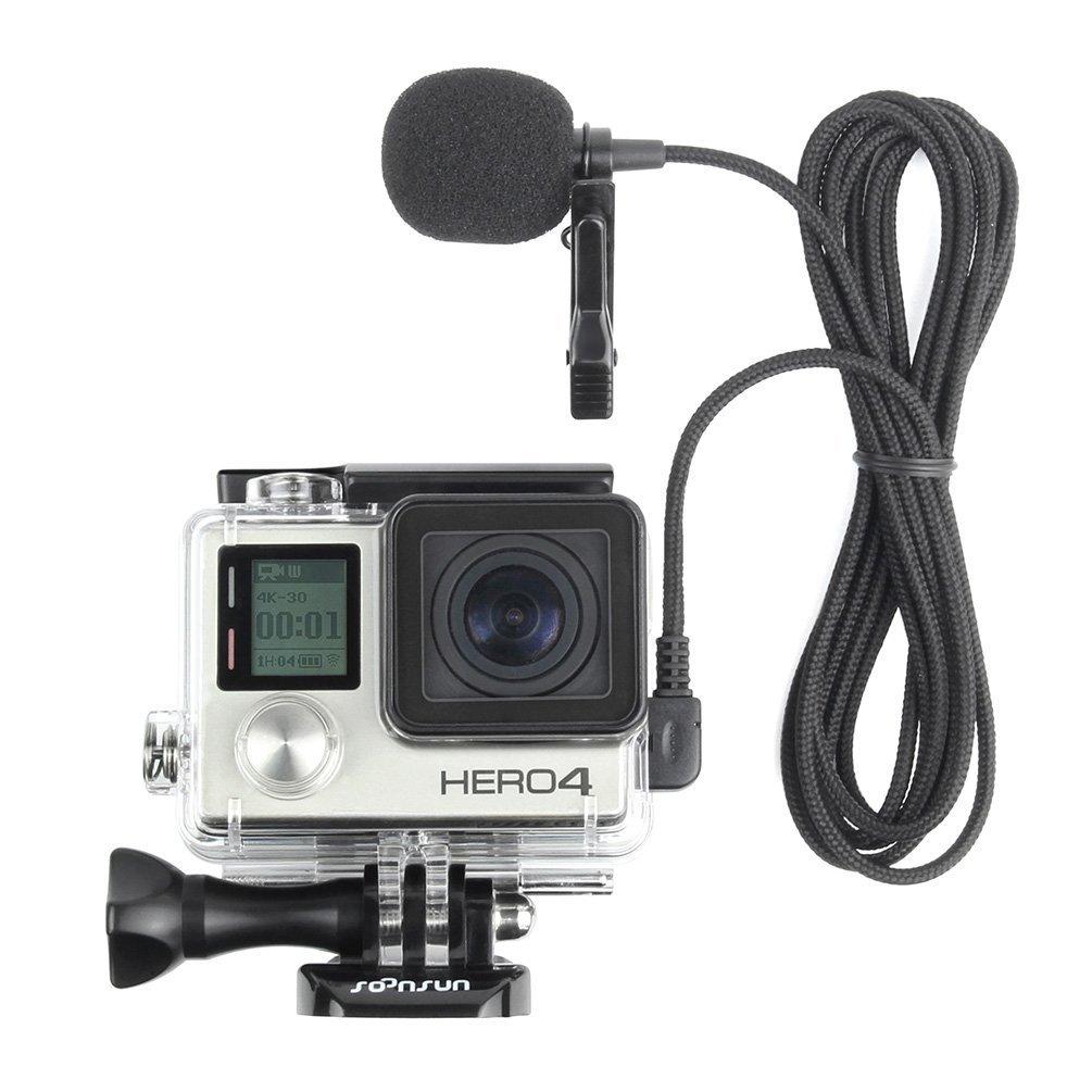 Hero3+ Hero3 Hero4 Cameras Hero2 XM-G Wired Microphone for GoPro Hero