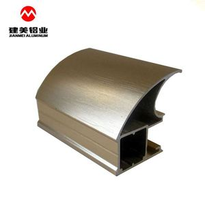 Factory aluminium section extrusions for wardrobe profile