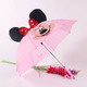 Pink small children wholesale cartoon head umbrella for kids
