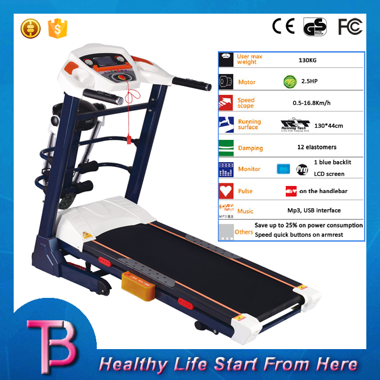Home gym electric dc motor used treadmills for sale