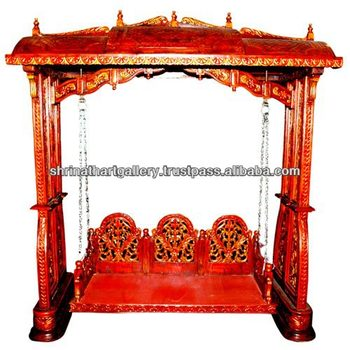 Made In India Wooden Antique Mughal Style Swing Home And Garden