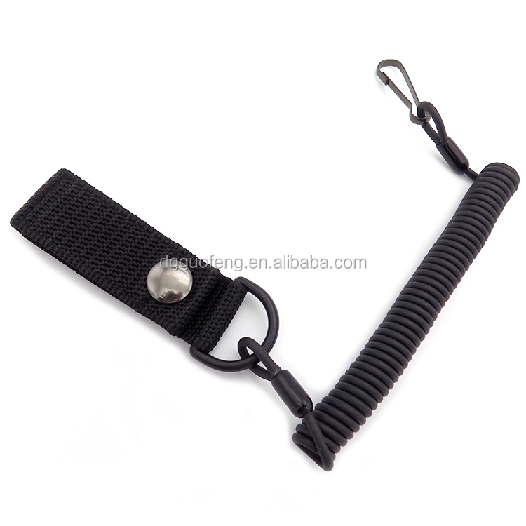 Adjustable Combat Sling Outdoor Tactical Survival Kit Retractable Spiral Coiled Lanyard for Securing Police and Military