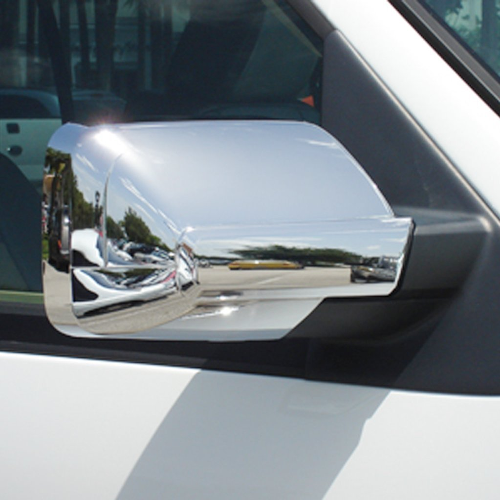 E-Autogrilles Triple Chrome Plated ABS Mirror Cover for 07-16 Ford Expedition