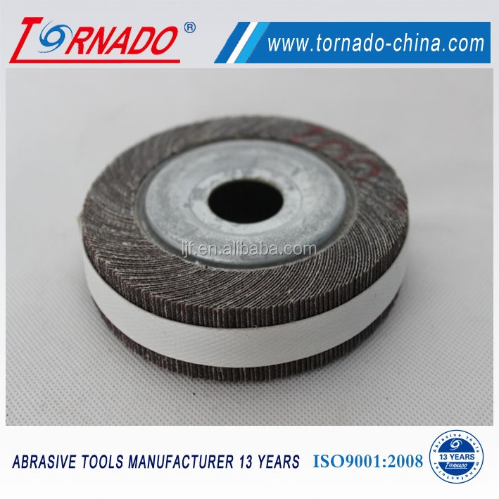 Tornado grit 400# 250x25x127mm silicon carbide flap wheel with small hole for grinding steel and metal