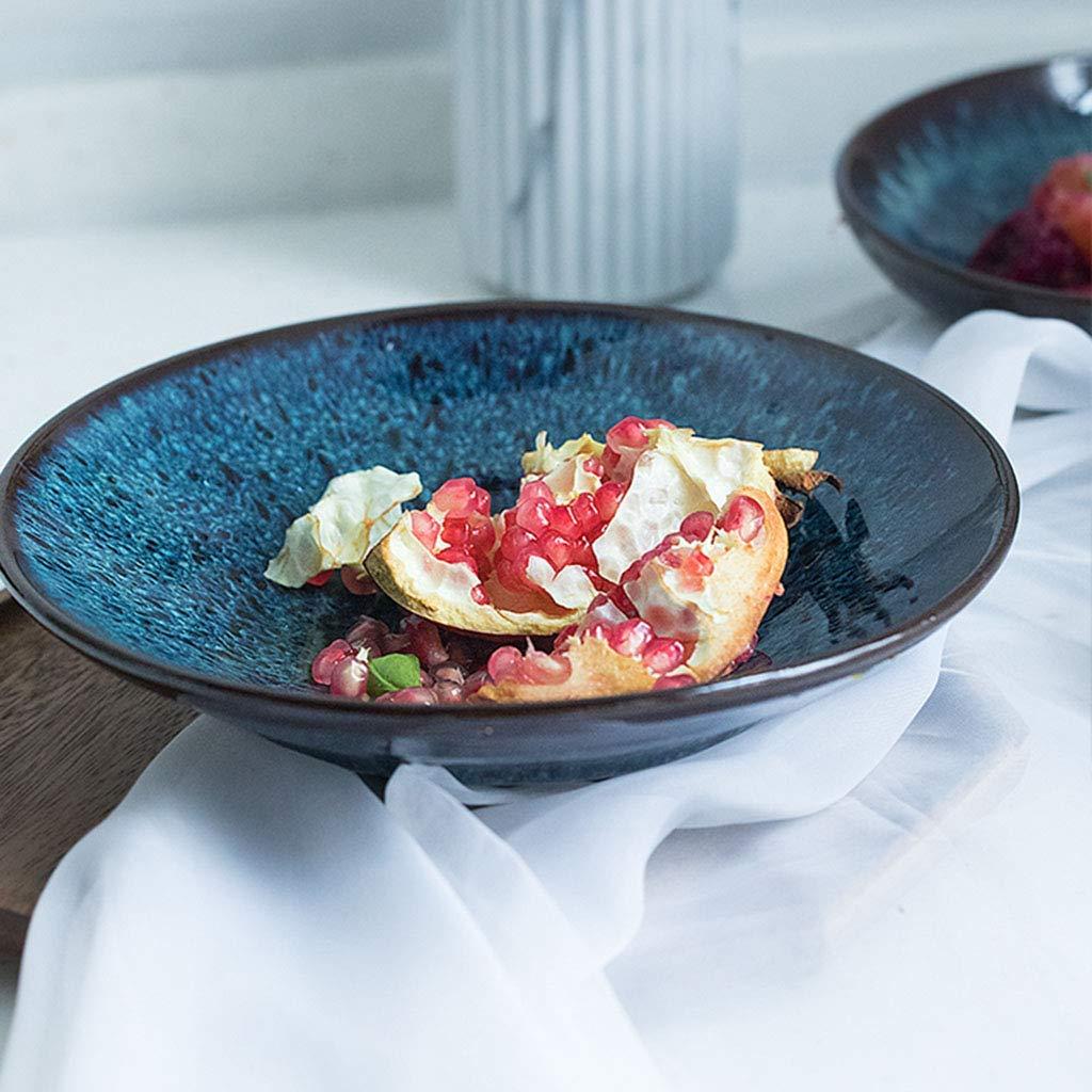 Ceramic Salad plate Noodle Bowls Pasta Bowls Rice Bowls Japanese style Soup Bowls Bowls blue glaze