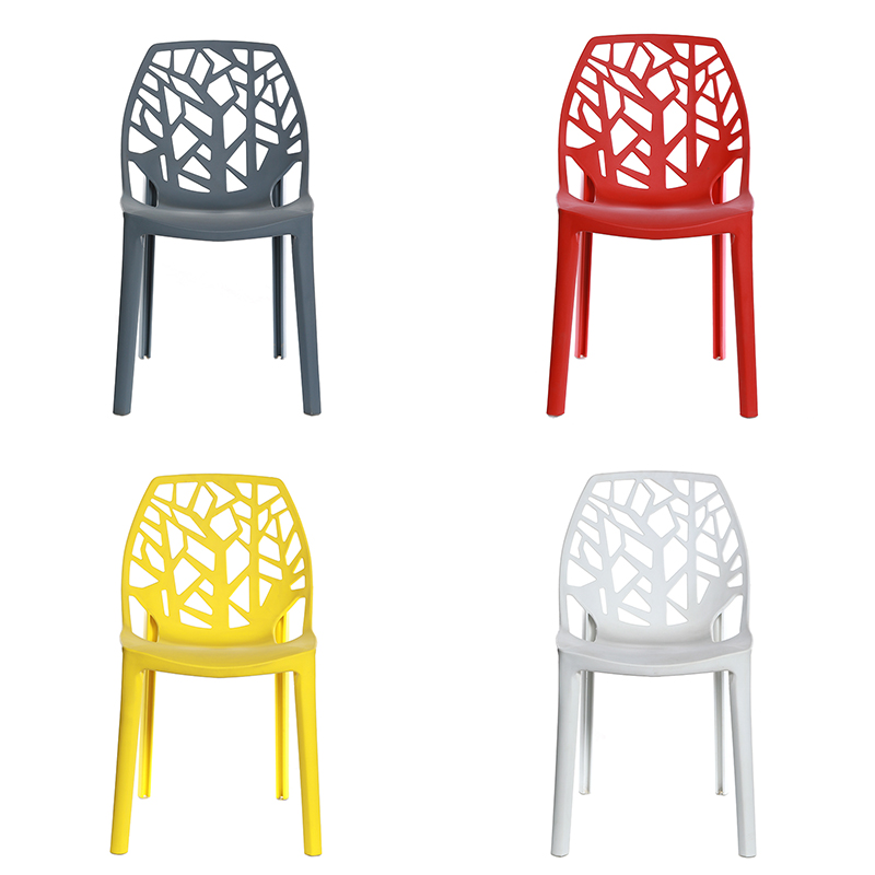 2019 High Quality Living Room Chair Colorful PP Seat Chairs Home Furniture Modern Plastic Chair