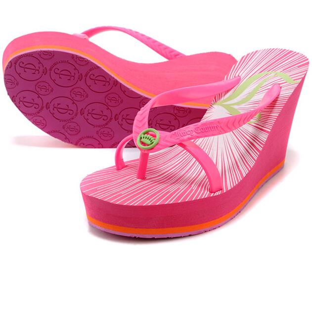 348d57e915b2 Get Quotations · Orange Hot Pink Blue White Black Glitter Wedge High Heels Platform  Foam Sandals Summer Beach Flip
