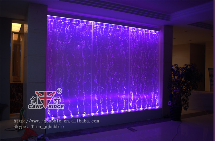 Hilton hotel hall bubble lighting wall water fountains feng shui ...