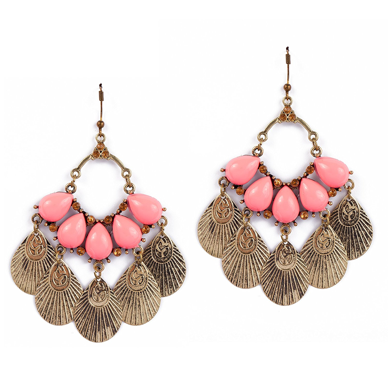 Gipsy Earrings - Pink - Chandelier Earrings - Drop Earrings - Pink Chandelier Earrings - Fashion Jewelry